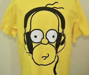 Homer Simpson t-shirt yellow XL The Simpsons music ...