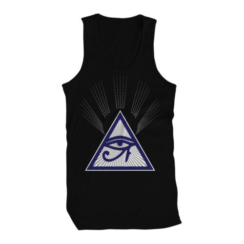 Illuminati Eye of Horus Providence Masonic Freemason Consipiracy Mens Tank Top