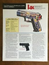 Heckler & Koch, H&K, HK Law Enforcement Modification (LEM) USP40C Cut Sheet