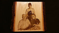 5 X 7  Personalized Laser Engraved Photos on Wood. handmade