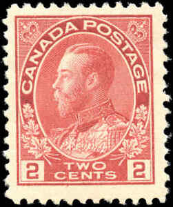1917-22-Canada-Mint-NG-2c-F-Scott-106-KGV-Admiral-Issue-Stamp