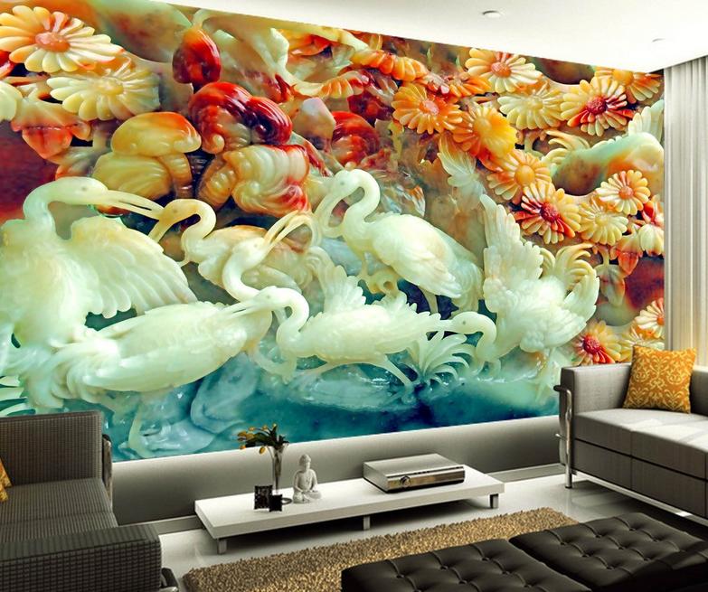 3D Weiße Kran Blaumen 84 Tapete Wandgemälde Wandgemälde Wandgemälde Tapete Tapeten Bild Familie DE Summer | Sehr gelobt und vom Publikum der Verbraucher geschätzt  fdac65
