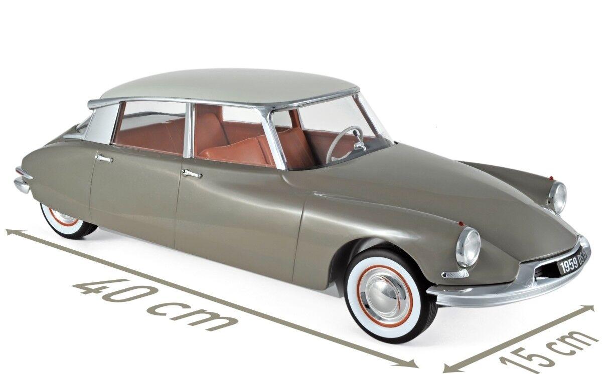 Norev Citroën DS19 1959 1 12 Marron Glacé   Blanc Carrare