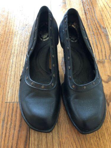 Fluevog Black Studded Cutout Shoes Size 9 Freedom