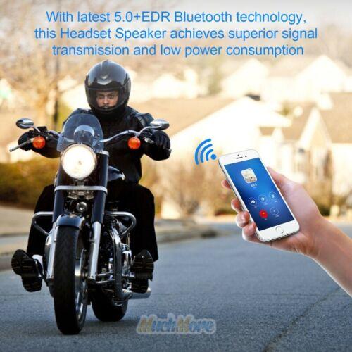 Bluetooth 5.0 Helmet Motorcycle Headset Speakers Handsfree w//Mic Rechargeable US