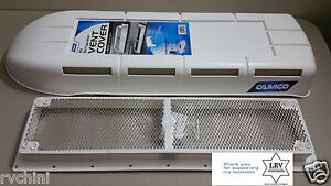 Rv Refrigerator Vent Cover And Base Polar White For