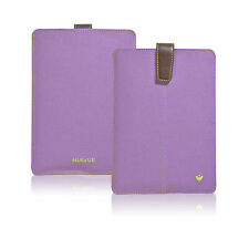 For Apple iPad Mini Antimicrobial Purple Canvas Screen Cleaning Sleeve Pouch