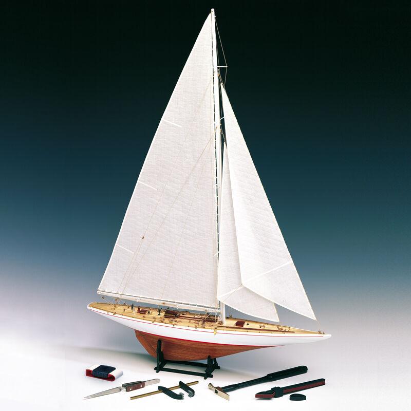 Amati Rainbow J Class Yacht 1 80 1700 11 Wooden Model Boat Kit