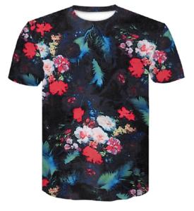 Men/'s Women/'s FLOWER funny 3D Print Casual Short Sleeve Tees Tops T-Shirt jg6