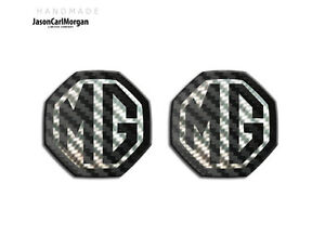 MG-ZS-LE500-Style-Badge-Inserts-Front-Rear-Badges-Fits-59mm-Emblems-Black-Carbon