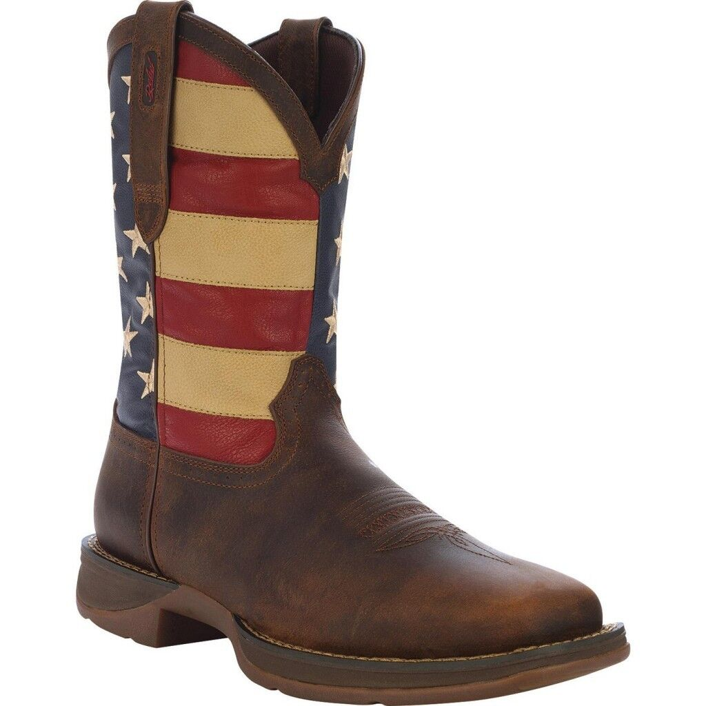 Durango Men's Rebel Patriotic Pull-On Western Boot DB5554