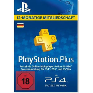 DE Playstation Plus 365 Tage (1 Jahr) Karte Card Sony PSN Live Code PS+ Key