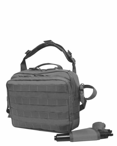 Black Concealed Carry Multi-Compartment Canvas Waist Gun Fanny Pack CCW