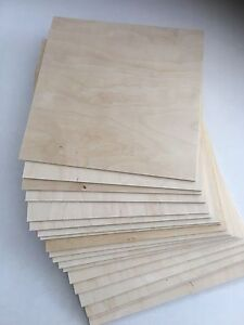 """40 Pieces 1/8"""" (3mm) x 8.5"""" x 11"""" Baltic Birch Plywood for CNC, Laser, Scoll Saw"""