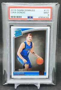 2018-Panini-Donruss-177-Luka-Doncic-Dallas-Mavericks-RC-Rookie-PSA-9-MINT