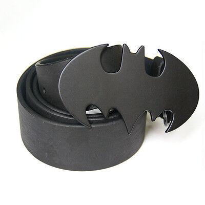 New Western Punk SuperHero Batman Black Mens Metal Belt Buckle Leather Gift