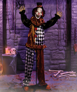 Halloween Witch Animated Life Size Clown Light Sound Haunted House Prop Decor