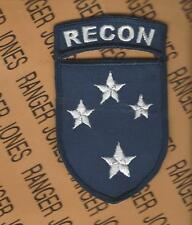 US Army 23rd Infantry Division RECON patch & arc tab set