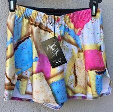 $50 NWT Zara Terez Multi Color PopTart Design Shorts Girls Size Medium 10/12