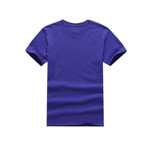 Men/'s Short Sleeve Solid Premium Cotton T-Shirt Casual Summer Sport Tee Tops 3XL