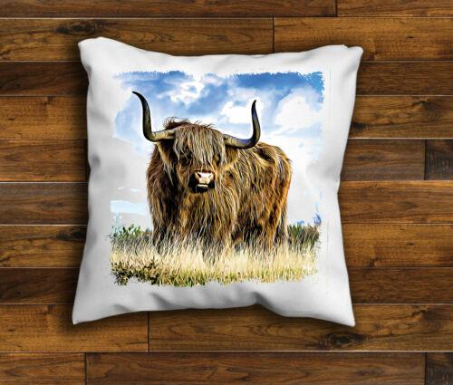 Highland Cow Housse de coussin design Highland Cattle coussin fait main