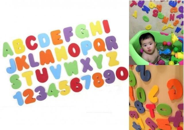36x Children Baby Kids ABC123 Foam Letters Numbers Bath Tub Swimming Water Fun