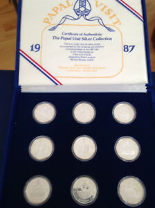 1987-Papal-Visit-Silver-Collection-of-9-Proof-Silver-Art-Medals-E4955