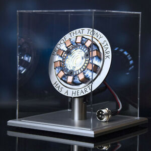 Iron Man 1:1 Scale Arc Ark Reactor Tony Stark Heart Pioneer LED Metal Model Gift