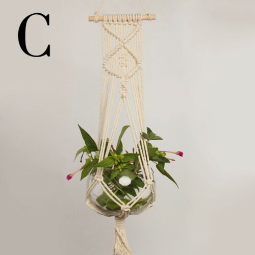 Pot Holder Macrame Plant Hanger Hanging Planter Basket Jute Rope Garden Home