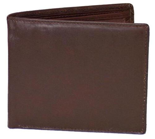 TAN #4555-R CAN BROWN Genuine Cowhide Leather Men/'s Large RFID Wallet  BLACK