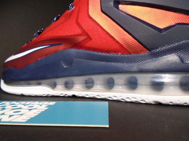 2014 Nike Air Max LEBRON LEBRON LEBRON XI 11 Low INDEPENDENCE DAY rosso bianca OBSIDIAN blu 8.5 9b6c16
