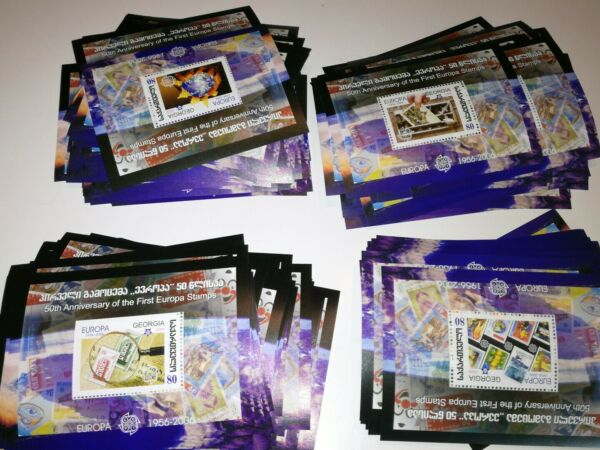 Amical Superbe Lot De 100 Blocs Chacun 35 A 38 Europa Georgie Xx Cote 1000 Euros SuppléMent éNergie Vitale Et Nourrir Yin