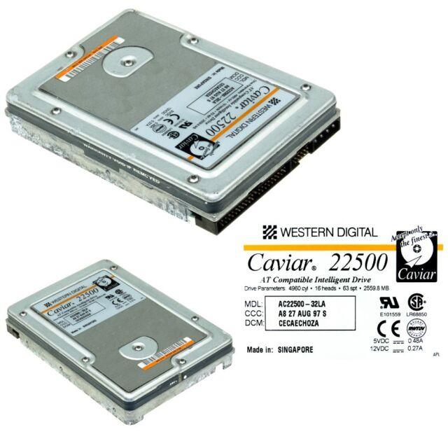 Western Digital 22500 ac22500-23la 76h7236 2560mb ide hard drive
