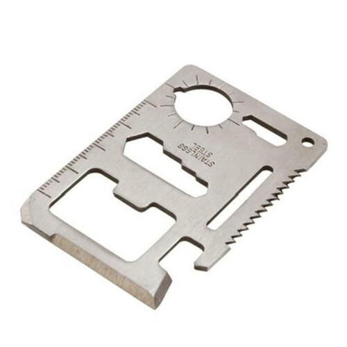 Outdoor survival Multi-function Camping Rescue Tool Card Bottle Opener Mini Saw