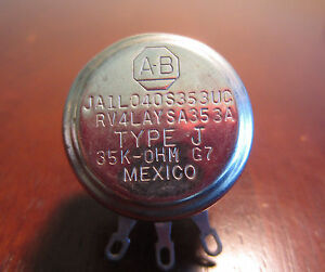 Allen Bradley JAIL040S353UC 35k Ohms Type J Potentiometer
