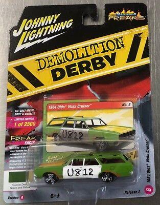 JOHNNY LIGHTNING 1964 OLDS VISTA CRUISER wagon DEMOLITION DERBY Street Freaks B