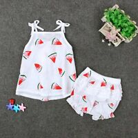 Cute Baby Girls Kids Summer Outfits Vest Tank Tops Dress+Shorts 2pcs Outfits Set