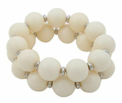 Zest Chunky Elasticated Bead Bracelet with Diamante Spacers