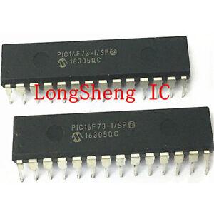 5PCS PIC16F73-I//SP PIC16F73 DIP IC MCU FLASH 4KX14 A//D DIP28 D10