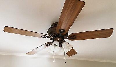 "Hunter 52"" ceiling fan with light kit   eBay"