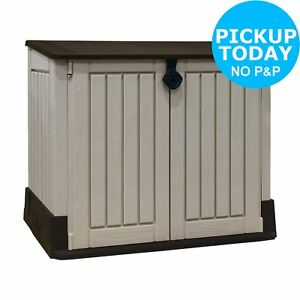 Keter Store It Out Midi Outdoor Storage Box Beige Brown Ebay
