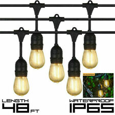 ✅20LED Outdoor String Lights Waterproof Commercial Patio Globe Fairy Light Bulbs