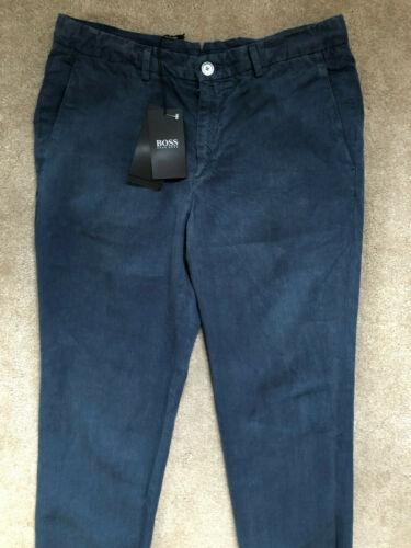 NEUF /& étiquettes 382R 48 Hugo Boss Black Label Bleu Barlow-D Lin Pantalon Pantalon