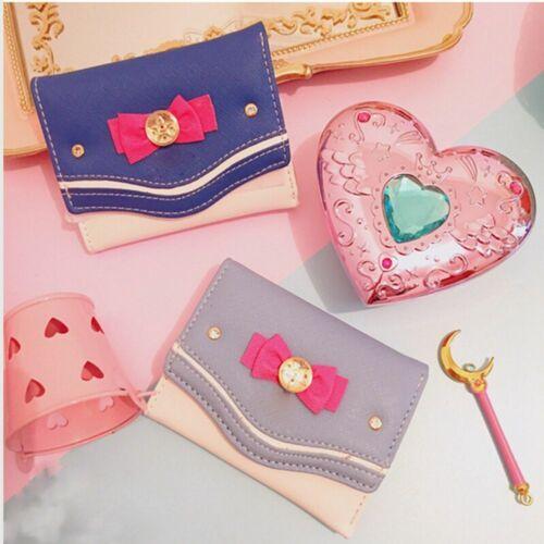 Sailor Moon Femmes Fashion Carte Monnaie Sac Pochette Sac à main PU cuir court Wallet