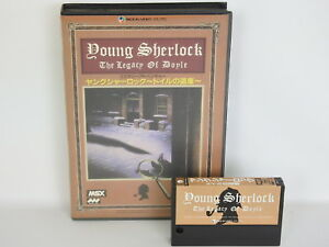 YOUNG-SHERLOCK-The-Legacy-of-Doyle-No-instruction-ref-2178-MSX-Japan-Game-msx