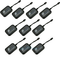 10pcs Mini Vehicle Motorcycle Bike Gps/gsm/gprs Real Time Tracker Monitor Track