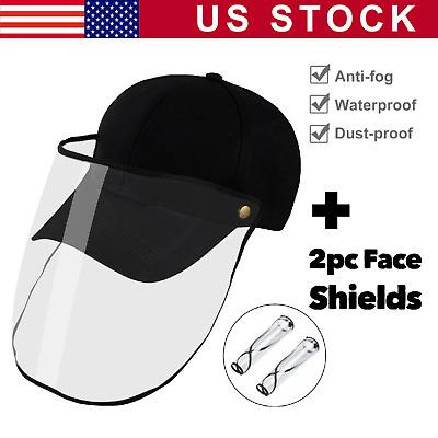 2pcs Face Shield Full Face Shield Protective Visor Anti-Spitting Face Shield