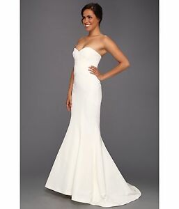 4aa36506dd29 Nicole Miller Dakota Women's Ivory Wedding Dress Strapless Bridal ...