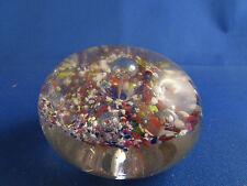 ancienne  sulfure presse papier verre soufflé millefiori petite