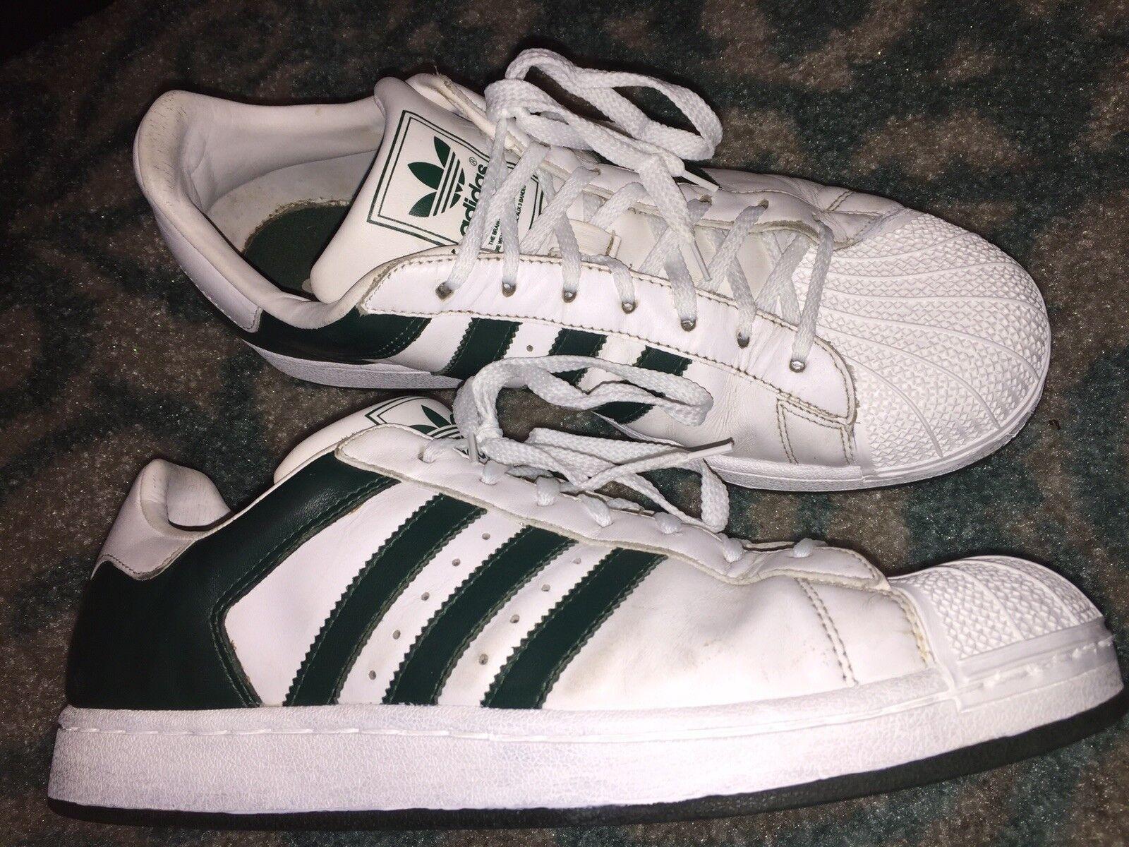 0a606639 Adidas Superstar Shell Toe para hombre nosotros tamaño 10.5 blancoo verde  Tenis Zapatos ntvdco857-Zapatillas deportivas